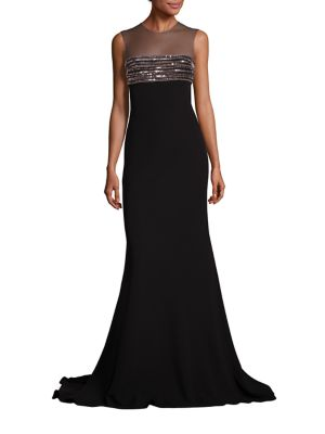 Beaded Illusion Gown