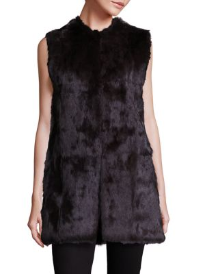 Oversized Rabbit Fur Vest