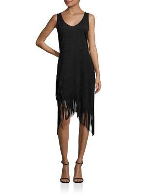 Asymmetrical Fringe Dress