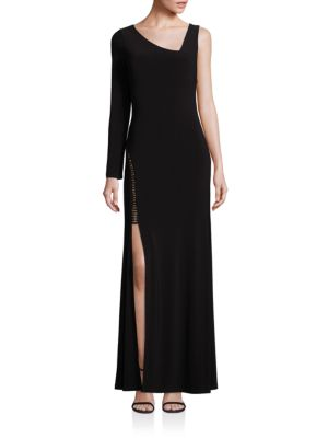 Asymmetrical Side-Slit Gown