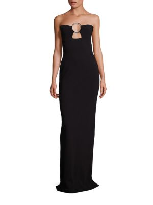 Keira Cutout Strapless Column Gown