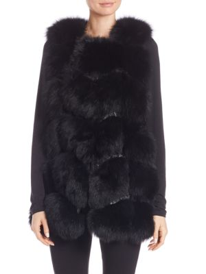 Fox Fur Embroidered Vest