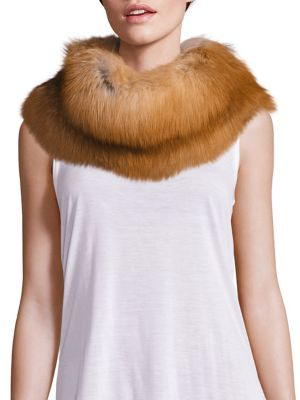 Fox Fur Cowlneck Scarf