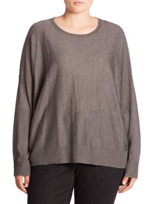 Dropped Shoulder Sweater plus size,  plus size fashion plus size appare