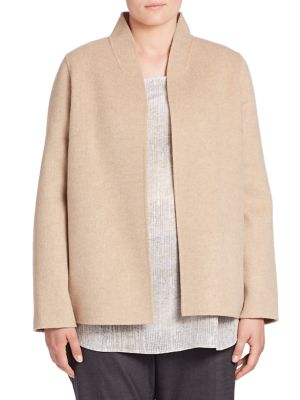 Wool Blend Jacket plus size,  plus size fashion plus size appare