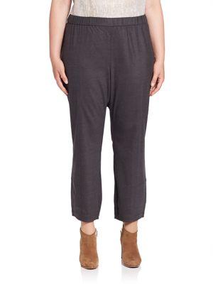 Straight-Leg Ankle Pants plus size,  plus size fashion plus size appare