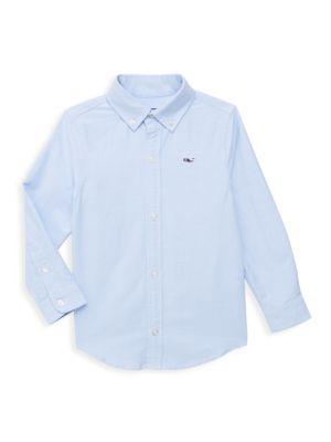 Toddler's, Little Boy's & Boy's Long Sleeve Cotton Shirt