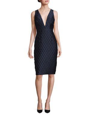 Callie Bubble Jacquard Dress