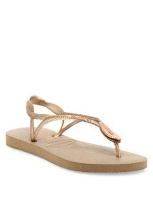 Luna Special Metallic Rubber Sandals