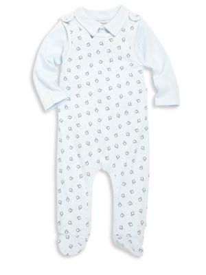 Babys Printed Footieand Solid Bodysuit Set