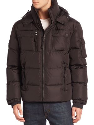 Quilted Military Goose Down Jacket