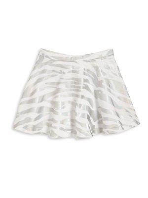Girl's Metallic Tiger Stripe Skirt
