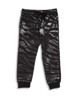Boy's Tiger Stripe Jogger Pants