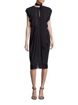 zimmermann female 188971 solid cape sleeve dress
