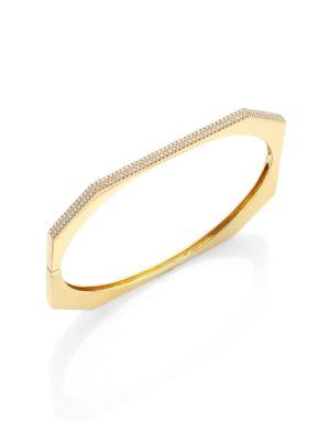 RON HAMI Diamond & 18K Yellow Gold Bangle Bracelet