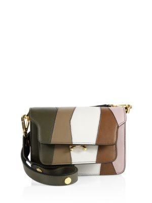 Small Trunk Multicolor Leather Shoulder Bag