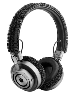 MASTER & DYNAMIC Carolyn Rowan X Master & Dynamic Mh30 Swarovski Crystal Embellished Headphones in Black