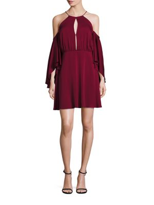 Melody Cold Shoulder Silk Dress