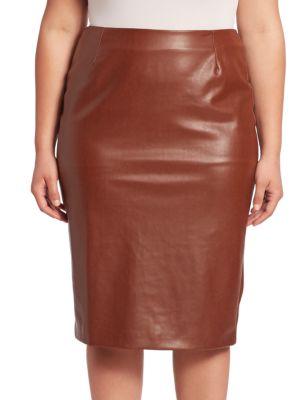 Solid Pencil Skirt plus size,  plus size fashion plus size appare