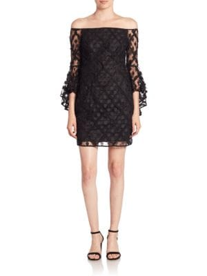 Selena Embroidered Lace Mini Dress