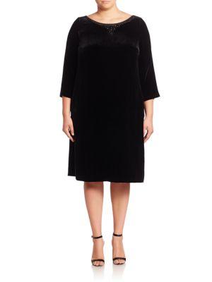 Town Silk Blend Shift Dress plus size,  plus size fashion plus size appare