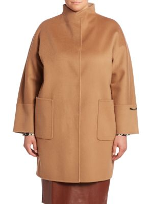 Virgin Wool Coat plus size,  plus size fashion plus size appare