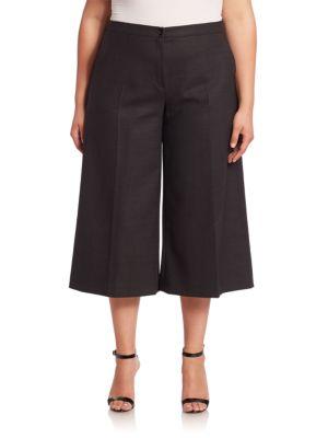 Pantaloni 3/4 MARINA RINALDI, evazați, plus size