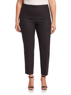 Fitted Ankle Pants plus size,  plus size fashion plus size appare