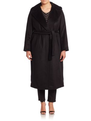 Tatto Virgin Woo  Alpaca & Mohair Wrap Coat plus size,  plus size fashion plus size appare