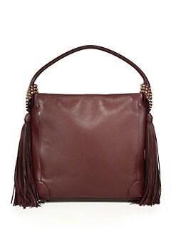017e82dd3a Christian Louboutin Eloise Empire Studded Leather Hobo Bag