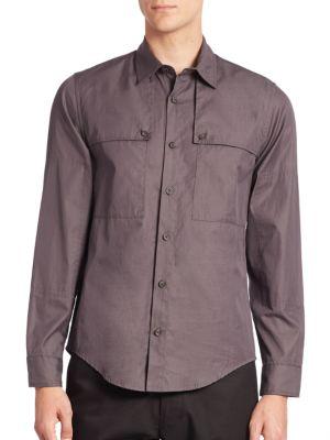 CADET Solid Buttoned Barrel Cuffs Shirt