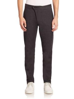 Knit Slim-Fit Pants