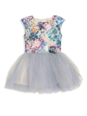 Toddler's & Little Girl's Winter Sunset Fit-&-Flare Dress