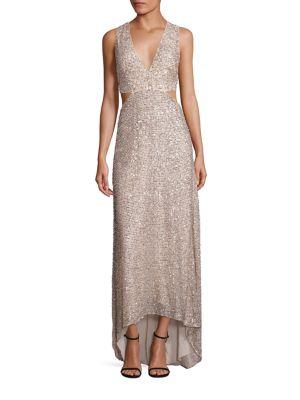 Juelia Embellished Hi-Lo Gown
