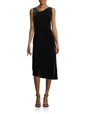 Sleeveless Asymmetrical Velvet Lorde Dress