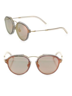 Eclat 60MM Mirrored Oval Sunglasses