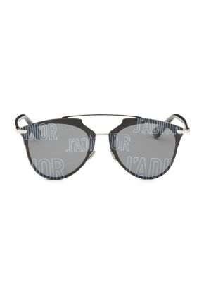 Reflected Prism 63MM Mirrored Modified Pantos Sunglasses