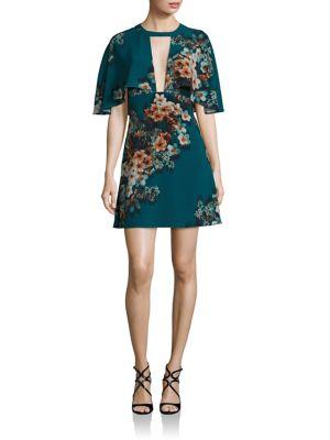 Cutout Cape Dress