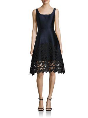 Floral Lace Trimmed Dress