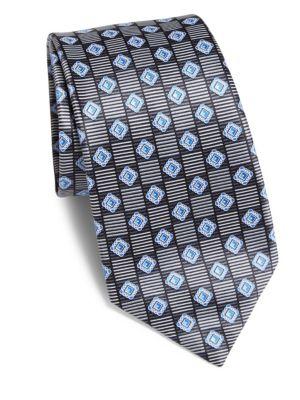 Diamond Patterned Silk Tie