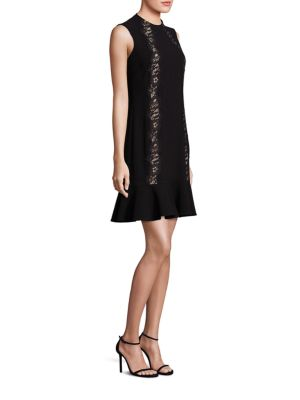 Crepe Lace Applique Dress