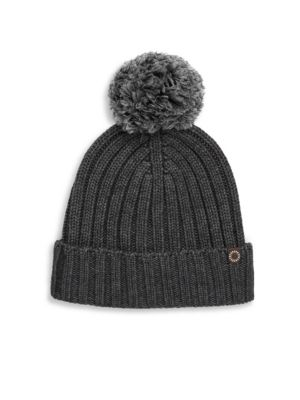 Ribbed-Knit Wool Blend Beanie