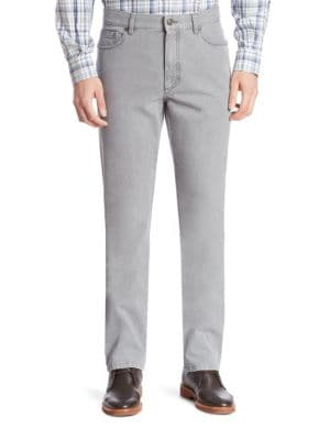 Straight-Fit Cotton Jeans