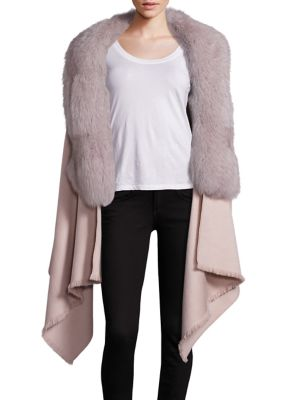 Abby Cashmere, Wool & Fox Fur Cape