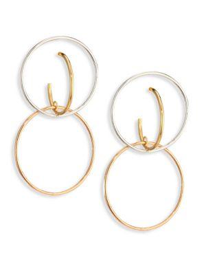 Galilea Medium Tri-Tone Drop Earrings