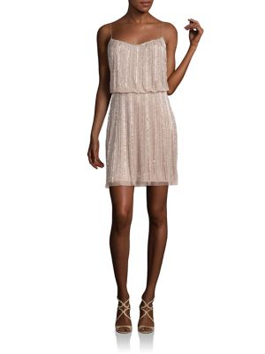 Buy Aidan Mattox Embellished Spaghetti Popover Bridesmaid Dress online with Australia wide shipping