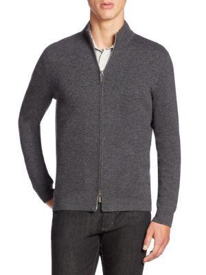 Cotton & Cashmere Blend Cardigan Sweater
