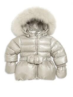 Canada Goose' Infant's Fur-Trim Down Snowsuit - Black - Size 18-24