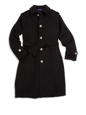 Girl's Single-Breasted Trench Coat plus size,  plus size fashion plus size appare
