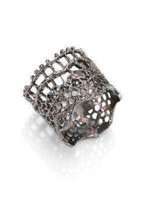 Vintage Lace Ring/Silvertone
